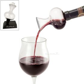 On-Bottle Deluxe Wine Aerator with Stand and Stopper