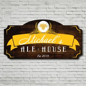 World Class Ale House Personalized Bar Sign