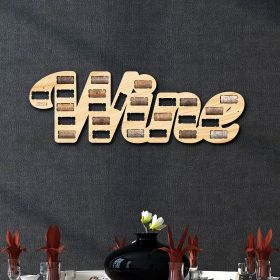 Written with Wine Cork Holder Wall Decor