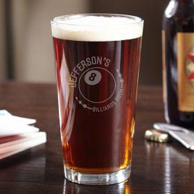 Eight Ball Billiards Room Custom Beer Glass