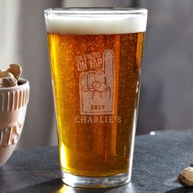 Prime Time Club Personalized Beer Glass
