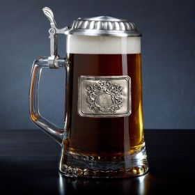 European Royal Crest Personalized Beer Stein