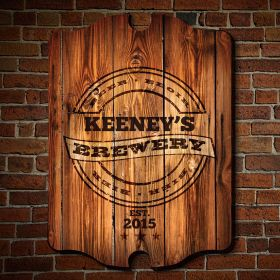 Personalized Brewery Bar Sign