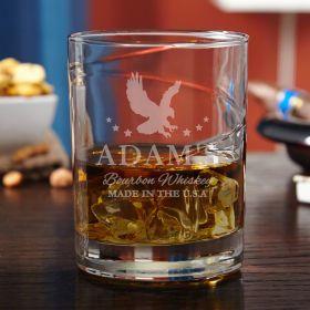 Patriot Hand-Blown Personalized Bourbon Glass