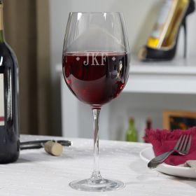 Diamond Monogram Personalized Wine Glass