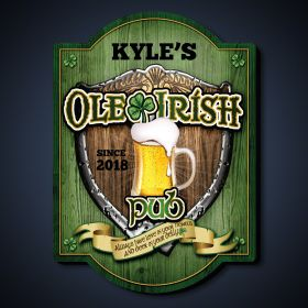 Ole Irish Personalized Pub Sign
