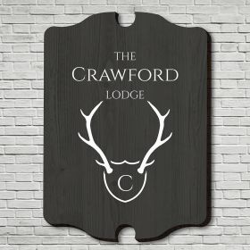 Trophy Antlers Customized Wood Sign