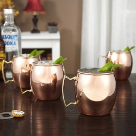 Copper Moscow Mule Mug, Set of 4