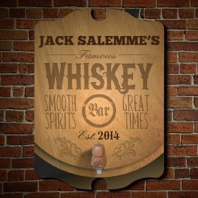 Famous Whiskey Personalized Bar Sign