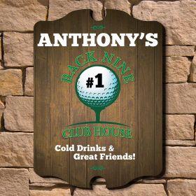 Back Nine Club House Custom Golf Sign