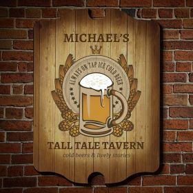 Barley and Hops Personalized  Bar Sign