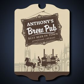Pre-Prohibition Brew Pub Personalized Sign