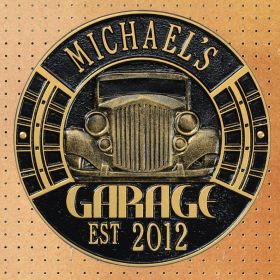 Vintage Car Personalized Garage Sign