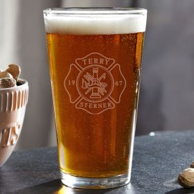 Firefighter Personalized Pint Glass