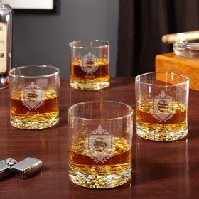 Buckman Oxford Whiskey Glasses, Set of 4