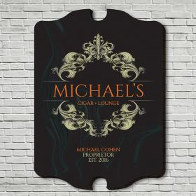 Downtown Cigar Lounge Personalized Wall Sign