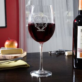 Love for Mom Engraved Wine Glass