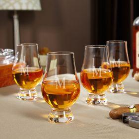 Personalized Glencairn Whiskey Glasses, Set of 4