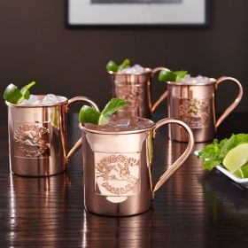 Donkey Kick 13.5 oz Moscow Mule Mugs, Set of 4