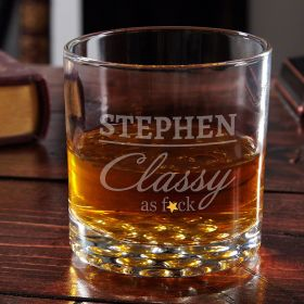 Class Act Engraved Whiskey Glass