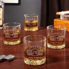 Marquee Custom Buckman Whiskey Glasses, Set of 4