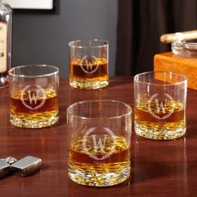 Buckman Statesman Whiskey Glasses, Set of 4