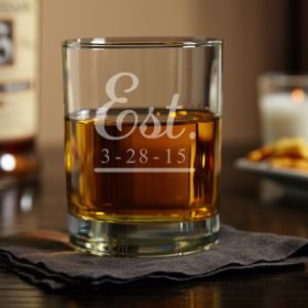 Eastham Well Established Personalized Whiskey Glass