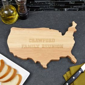 USA Personalized Cutting Board