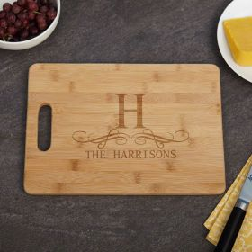 Family Vineyard Bamboo Cutting Board