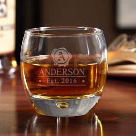 Wax Seal Personalized Uptown Whiskey Glass