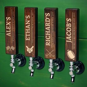 Athletic Icons Personalized Wood Tap Handle
