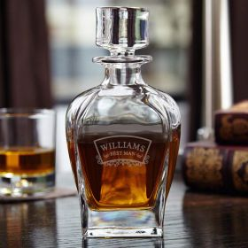 Timeless Wedding Custom Liquor Decanter