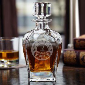 Elliston Personalized Draper Glass Decanter