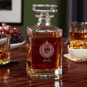 Oxford Monogrammed Whiskey Decanter