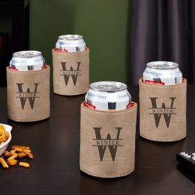 Oakmont Personalized Beer Koozies, Sand