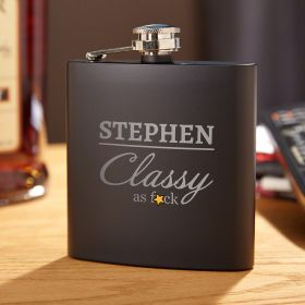 Class Act Personalized Whiskey Flask