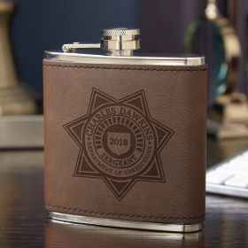 Custom Department of Corrections Hip Flask