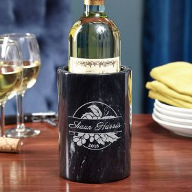 Rhone Valley Engraved Marble Wine Chiller