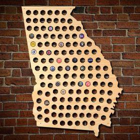 Giant XL Georgia Beer Cap Map