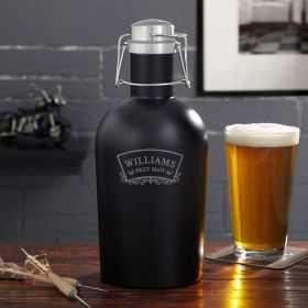 Timeless Wedding Blackout Beer Growler