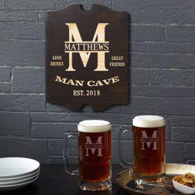 Oakmont Custom Beer Mugs and Engraved Wall Sign