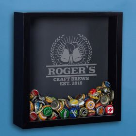 Craft Brews Personalized Beer Cap Shadow Box