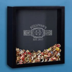 Fine Cigars Engraved Shadow Box