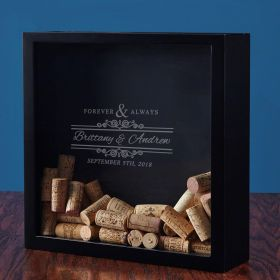 Forever & Always Custom Wine Cork Shadow Box