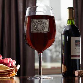 Royal Crested Extra Large Wine Glass