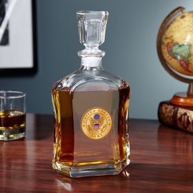 US Army Clear Glass Liquor Decanter