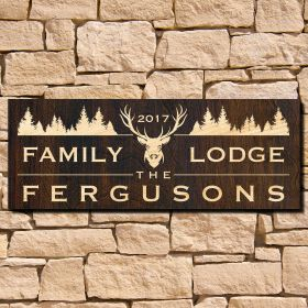 Deershead Lodge Custom Sign (Signature Series)