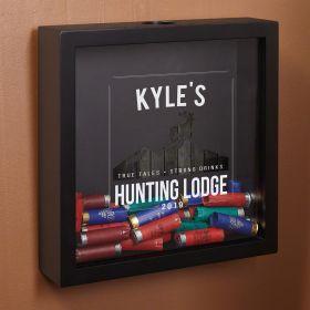 Hunting Lodge Personalized Shotgun Shell Shadow Box for Hunters