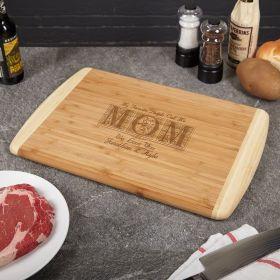Call Me Mom Bamboo Custom Cutting Board