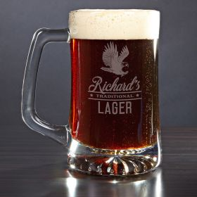 Rushmore Engraved Beer Mug